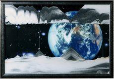 Sand Art Picture - Earth (Apollo 17) - By Klaus Bosch