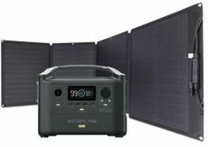 EcoFlow River Pro Portable Solar Generator Kit - Includes 110 Watt Solar Panel