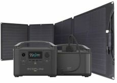EcoFlow River Pro Portable Solar Generator Kit with Extra Battery - Includes 110 Watt Solar Panel