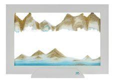 Blue Ocean Silhouette Sand Art Picture by Klaus Bosch