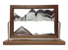 Walnut Landscape Sand Art by Klaus Bosch - 15-1/2 x 9-3/4 Inches