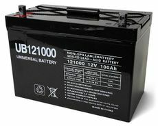 12 Volt 100 Amp Hour Sealed Lead Acid Battery by UPG