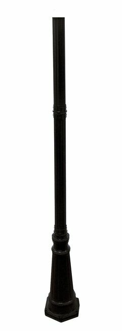 6.5 Foot Black Outdoor Lamp Pole with 3 Inch Fitter