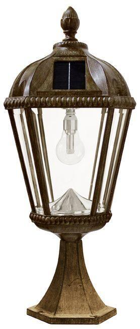 Royal Pier Mount Solar Lamp with GS-Solar LED Light Bulb