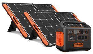 Jackery 1500 Solar Generator Kit - 2X SolarSaga 100 Watt Panels