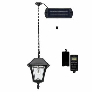 Baytown II Bulb Solar Hanging Light - Solar Hanging Pendant Lamp with Remote Control