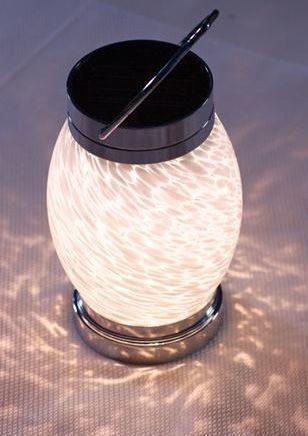 Solar Boaters Lantern - White Oval