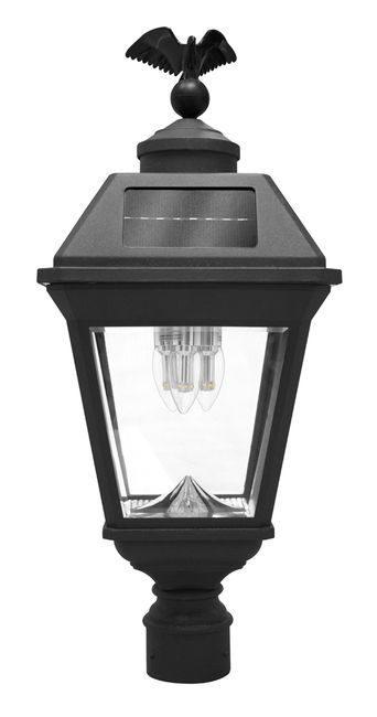 Imperial Bulb Solar Lamp with 3 GS Solar LED Light Bulbs - 3 Inch Pole Mount