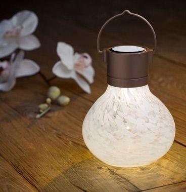 Solar Tea Lantern Light With Warm White LED