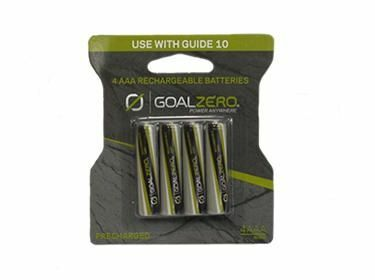 Goal Zero 4pk AAA Rechargeable Batteries with Adapter