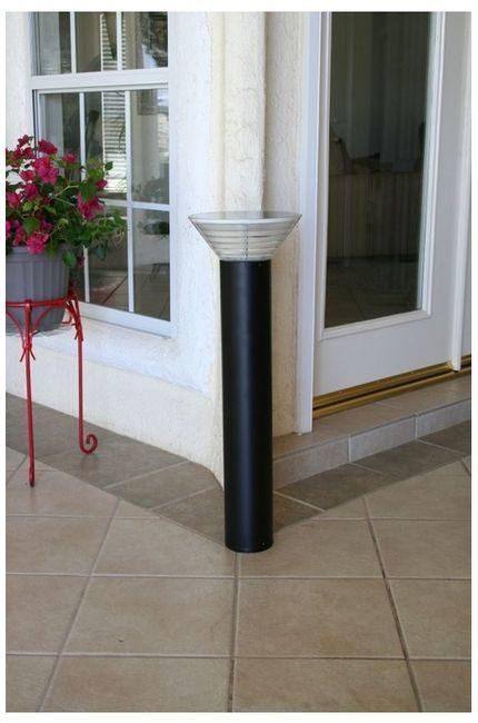 Premium Modern Solar Bollard Light By Yardbright