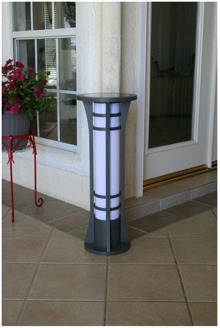 Premium Column Solar Bollard Light