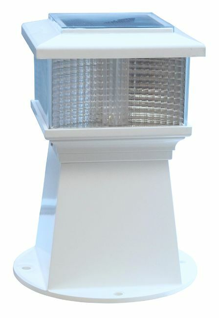 Dock Edge Solar Piling Light - Fresh and Salt Water Rated