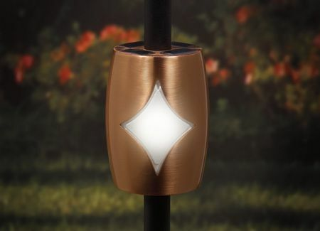 Copper Solar Baluster Light for 3/4 Round Balusters