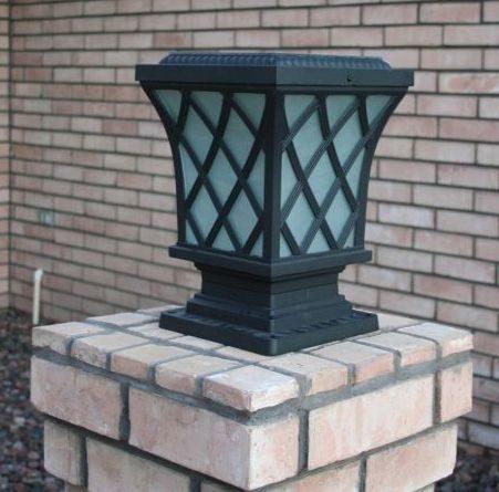 Premium Classic Solar Pillar Light In Black