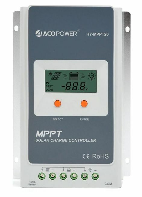 ACO Power 20A MPPT Solar Charge Controller