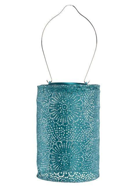 Soji Stella Cylinder Metallic Emerald Lantern