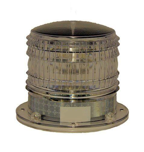 Solar Marine Beacon Light with Magnetic Base - Flashing Operation