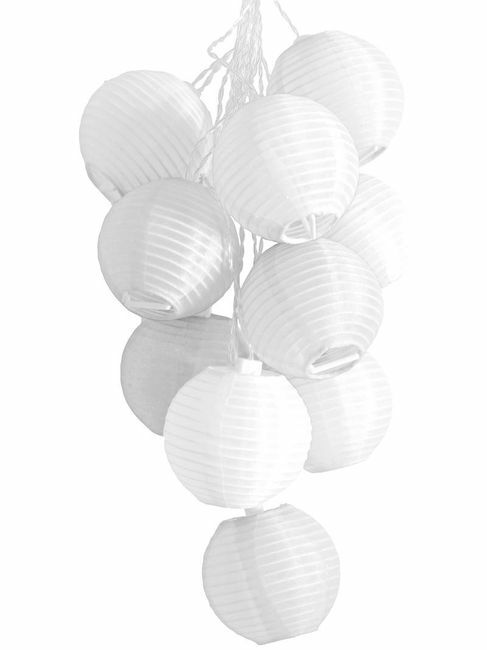 Soji Mini Outdoor Solar String Lights - White w/White LEDS