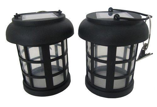 2 Pack Umbrella Hanging Solar Lantern with energy saving white LED