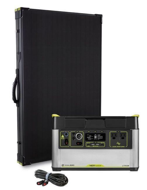 Goal Zero Yeti 1000X Solar Generator Kit - with Boulder 200 Watt Solar Panel