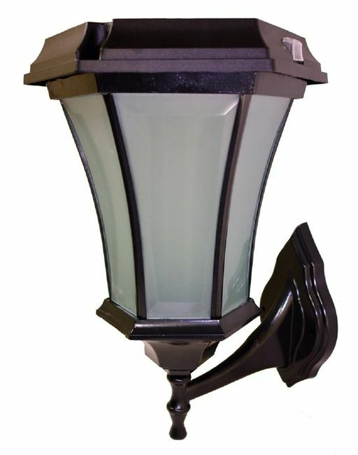 Solar Coach Lamp with Flicker Flame LED - Wall Mount