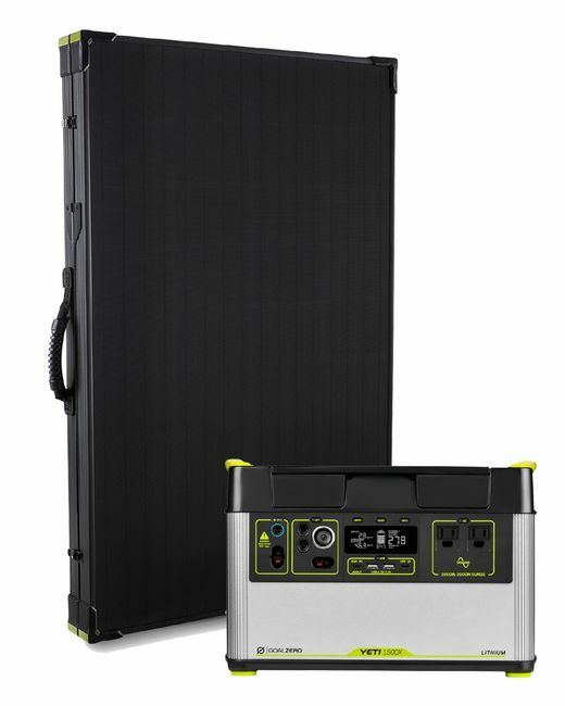 Goal Zero Yeti 1500X Portable Solar Generator Kit with Boulder 200 Briefcase Solar Panel