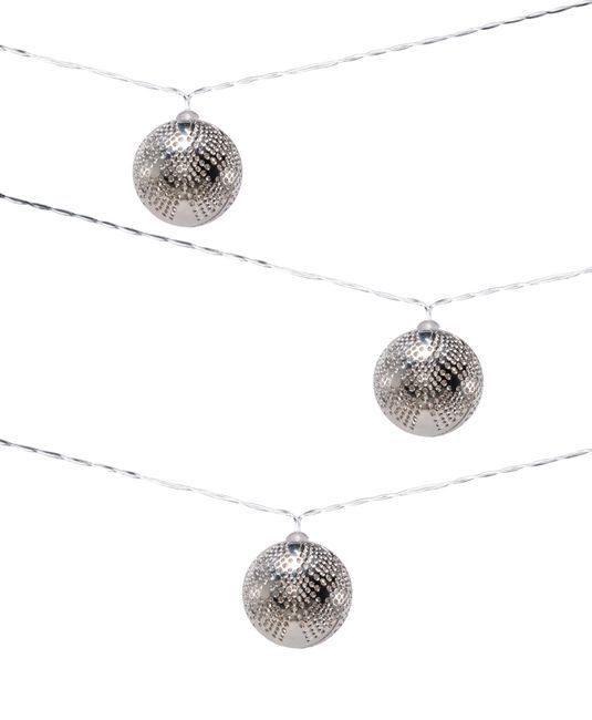 Metallic Marrakesh Silver Droplet Solar String Light