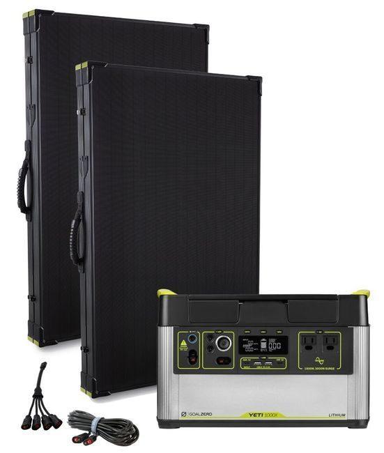 Goal Zero Yeti 1000X Solar Generator Kit - with 2x Boulder 200 Watt Solar Panels