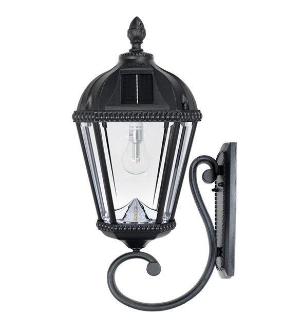 Royal Bulb Solar Light with Wall Mount - Black