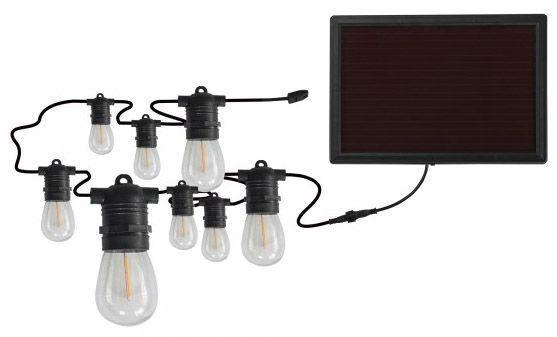 30 Ft 12 Socket Solar LED String Lights
