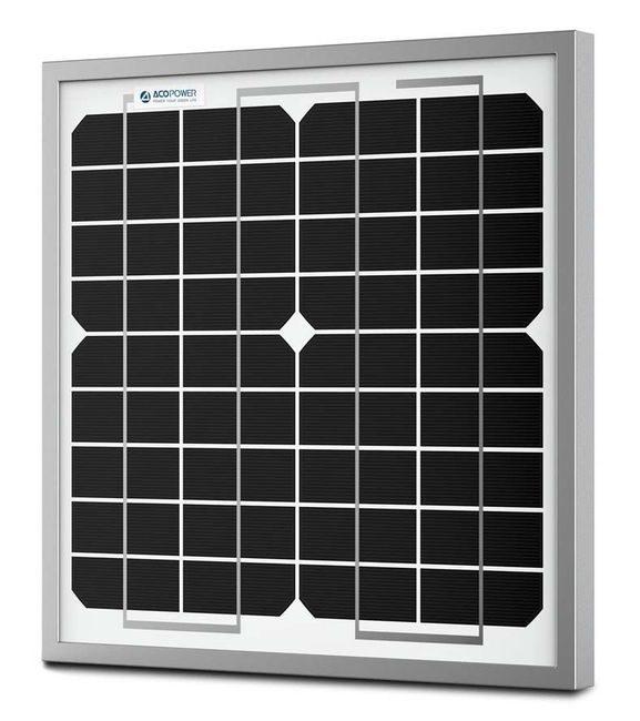 ACO Power 10 Watt Monocrystalline Solar Panel