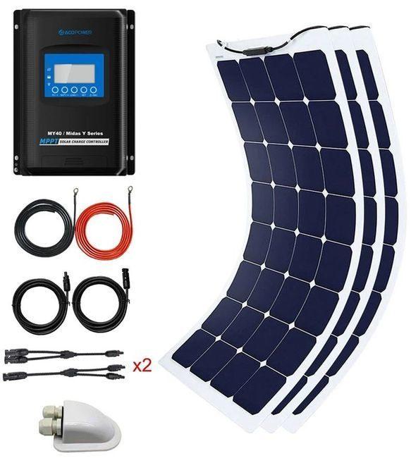 ACO Power 330 Watt Flexible Panel Solar Marine Kit