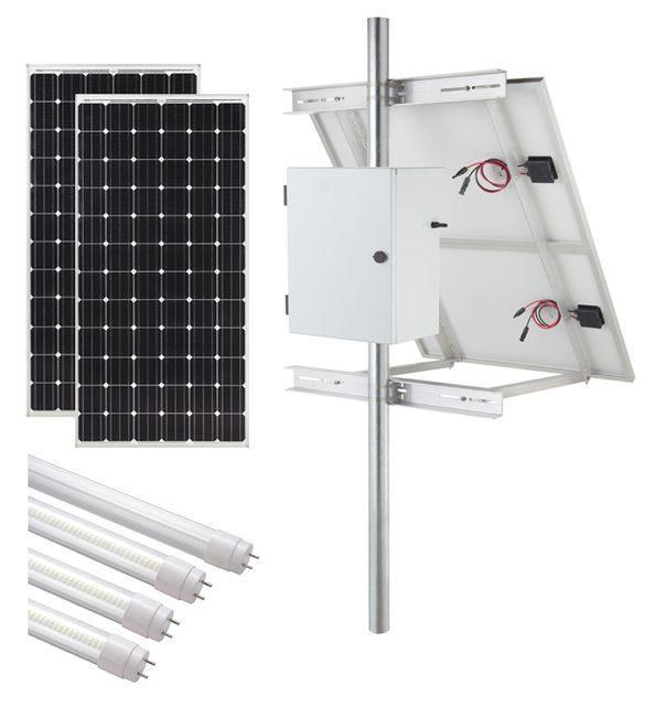Internally Illuminated Solar Sign Kit (2-Sided) - 18,600 Lumens