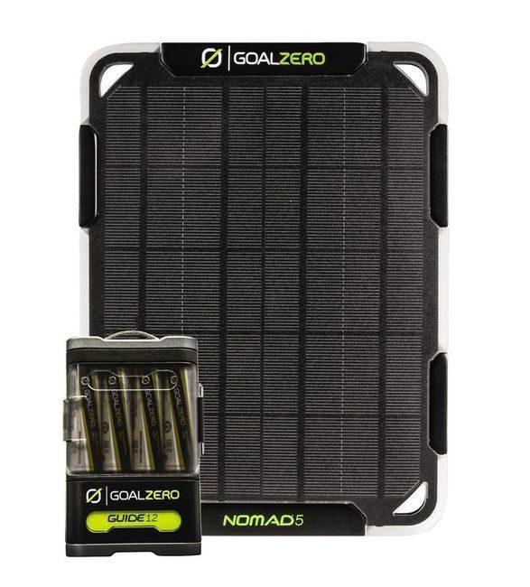 Goal Zero Guide 12 & Nomad 5 Solar Panel Kit