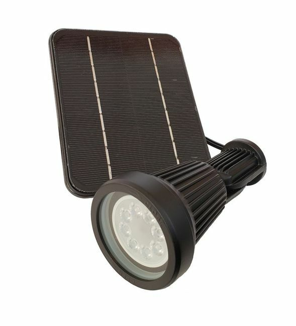 Pro Series 340 Lumen Warm White Solar Spot Light with Color Changing Options