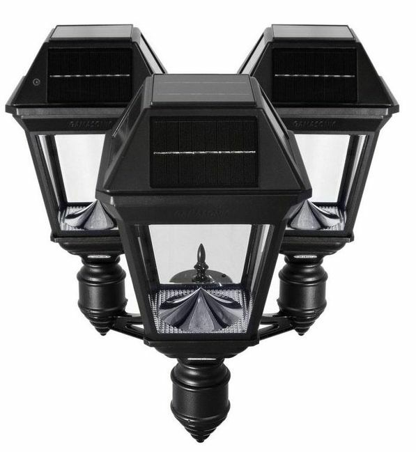 Gama Sonic Imperial III Commercial Solar Triple Post Light