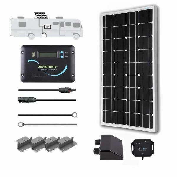 Renogy 100 Watt Monocrystalline Solar RV Kit - 12 Volts