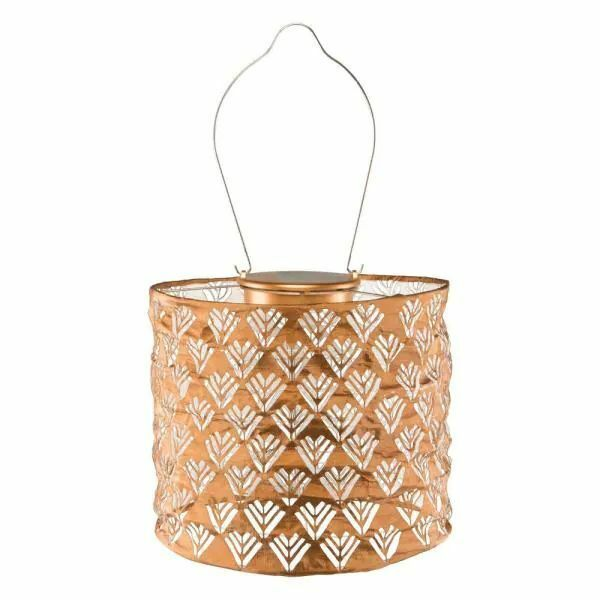 Soji Stella Drum Solar Lantern in Copper