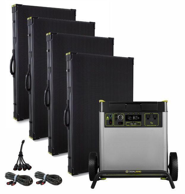 Goal Zero Yeti 6000X Solar Generator Kit with (4) Boulder 200 Briefcase Solar Panels
