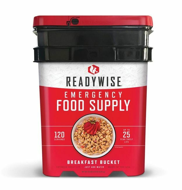 Ready Wise 120 Serving Breakfast Bucket - Long-Term Food Supply for Emergencies