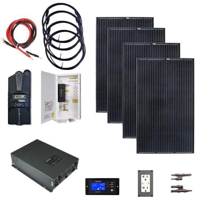 Earthtech Products 2000 Watt (4000W Surge) Solar Kit with 1200 Watts of Solar Power