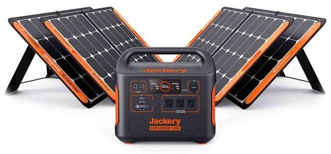 Jackery 1500 Solar Generator Kit - 4X SolarSaga 100 Watt Panels