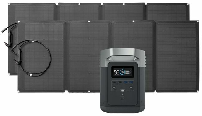 EcoFlow Delta Solar Generator Kit with 320 Watts of Solar
