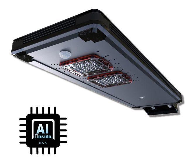 Solar Power AI Smart Cree LED Area Parking Light - 3200 Lumens