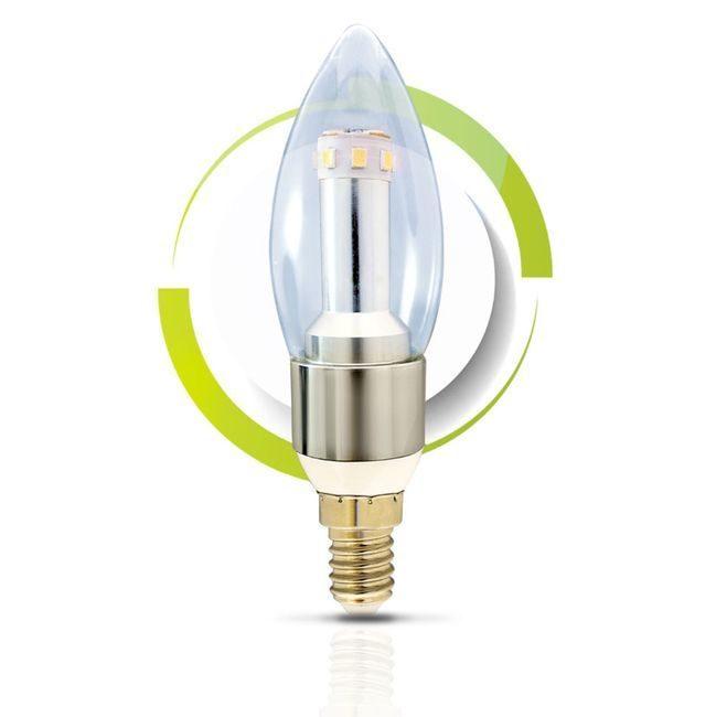 GS Solar LED Light Bulb - C37 Cool White 6000K