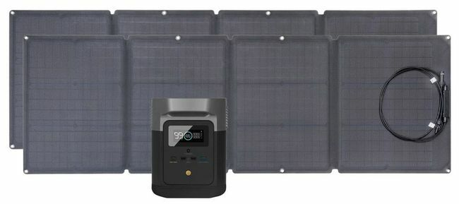 EcoFlow Delta Mini Solar Generator Kit with 220 Watts of Solar