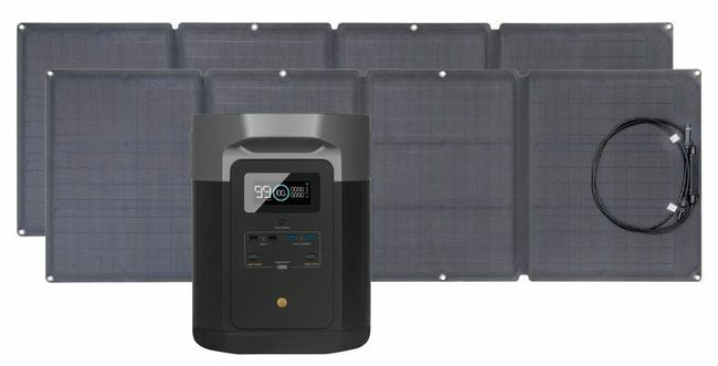 EcoFlow Delta Max Solar Generator Kit - With 220 Watts of Solar