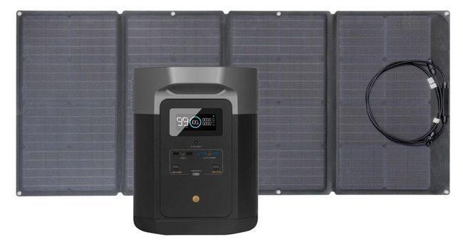 EcoFlow Delta Max Solar Generator Kit - With 160 Watt Solar Panel