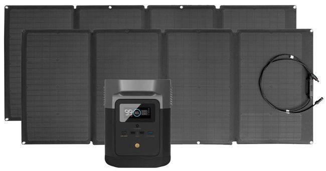 EcoFlow Delta Mini Solar Generator Kit with 320 Watts of Solar